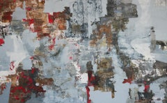 Charred Red - 21st Cent, Contemporary, Figurative, Abstract Painting, Portrait