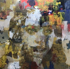 Chard Yellow - 21st Cent, Contemporary, Figurative, Abstract Painting, Portrait