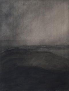 Paisaiak IV - 21st Century, Contemporary Landscape Painting, India Ink, Charcoal