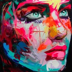 Mojito - 21st Century, Contemporary, Figurative, Oil Painting, Portrait, Pop