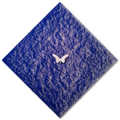 Vanish 02.01 White Blue Diamond - 21st Cent, Contemporary, Figurative, Butterfly