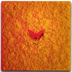 Vanish 01.02 Red Yellow R - 21st Century, Contemporary, Figurative, Butterfly