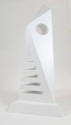 El Vigilante - 21st Century, Contemporary Art, Abstract Sculpture, Painted Iron
