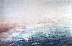 At the Ocean's Edge - 21st Century, Contemporary, Landscape, Watercolor on Paper