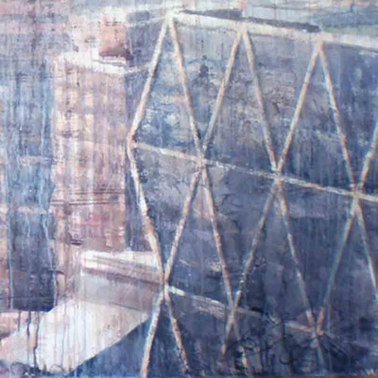Hazy Morning over Hudson - 21st Cent, Contemporary, Landscape, Watercolor, Paper For Sale 2