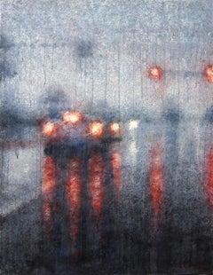 Non-Stop Rain - 21st Century, Contemporary, Landscape, Watercolor on Paper