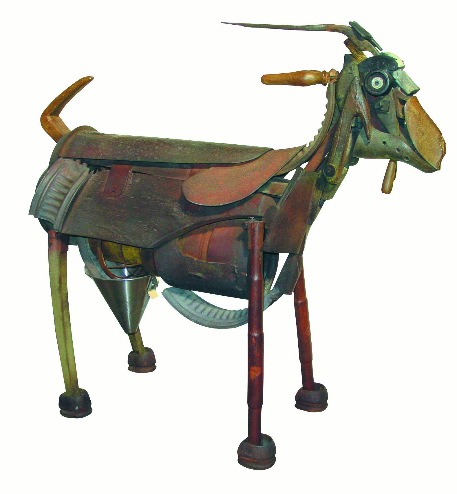 Cabra De Bronce - 21st Century, Contemporary Sculpture, Figurative, Bronze