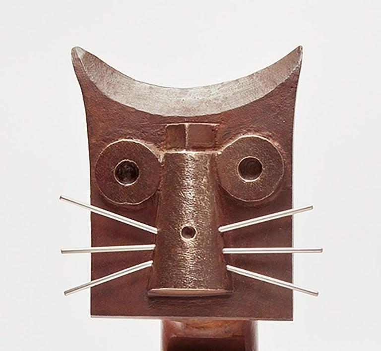 Gato De Bronce - 21st Century, Contemporary Sculpture, Figurative, Bronze, Cat - Gold Figurative Sculpture by Miquel Aparici