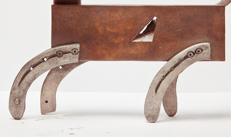 Gato De Bronce - 21st Century, Contemporary Sculpture, Figurative, Bronze, Cat For Sale 3
