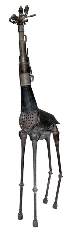 Jirafa - 21st Century, Contemporary Sculpture, Figurative, Recycled Objects