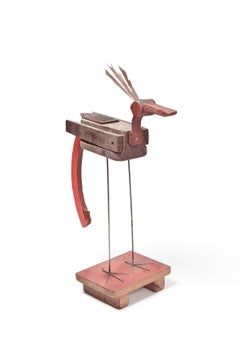 Pájaro - 21st Century, Contemporary Sculpture, Figurative, Recycled Objects