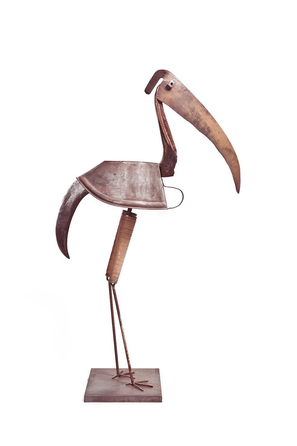 Pájaro De Bronce - 21st Century, Contemporary Sculpture, Figurative, Bronze Bird