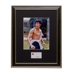 An Original Double-Sided Bruce Lee Framed Business Card - The Legend Begins