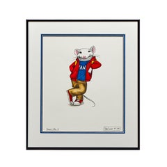 Stuart Little 2 Concept Drawing - Playing it  Cool 2, Signed by artist -Pop Art