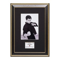 Bruce Lee. A Framed Vintage Jun Fan Gung Fu Card - Body Hook