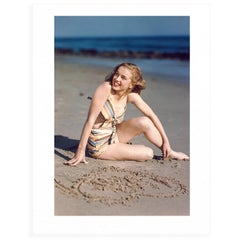 Marilyn Monroe By Joseph Jasgur (Love Heart) - Colour Limited Edition Print