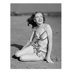 Marilyn Monroe By Joseph Jasgur (Striped Swimsuit)  B&W Limited Edition 5/500