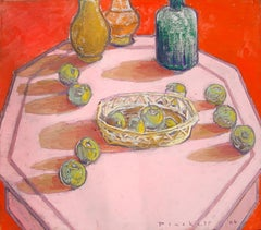Vases & Apples 1, Joseph Plaskett, Oil on Canvas