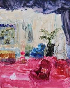 Original Oil Painting by Darlene Cole, Velvet (Living Room)