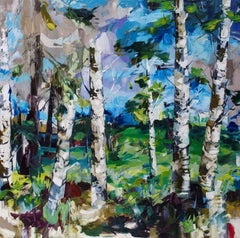 Original Painting by Cori Creed, Layered Groves, Oil on Canvas