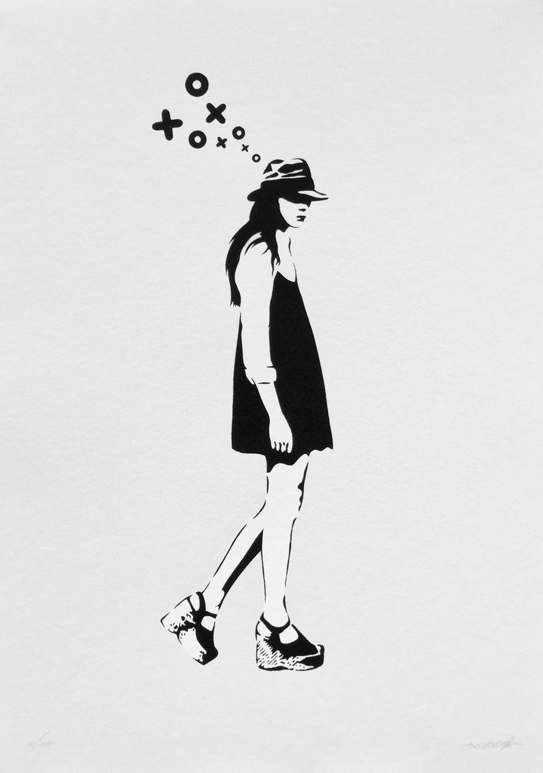 XOOOOX Portrait Print - Walking Lady
