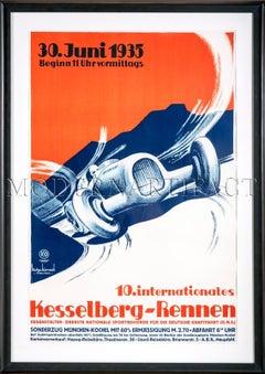 1935 Kesselberg Rennen Racing Poster Germany Klotz Kienast vintage race Geo Ham