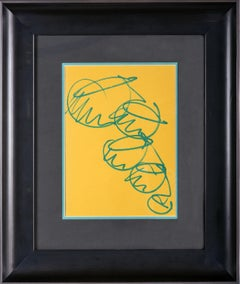 Dale Chihuly Original Drawings Signed Custom Framed showing both Sides