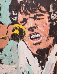 Denny Dent Elvis 68 x 52 Pop Art Performance Original Painting Mint Condition