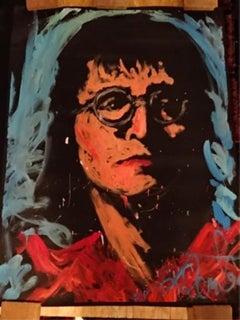 Denny Dent John Lennon 94 Original Painting Museum Quality Beatles 67x53 Signed