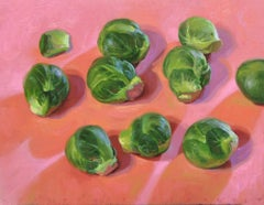 Sprouts- 21st Century contemporary still-life painting by dutch Rutger Hiemstra
