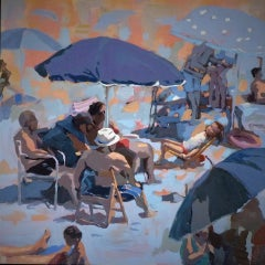 Beach- 21st Century, Contemporary Painting by Mitzy Renooy