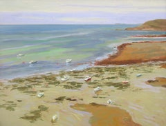 French coast- 21st Century Contemporary Landscape Painting by Rutger Hiemstra