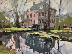 Dutch Villa- 21st Century Contemporary Landscape Painting by Eric Schutte