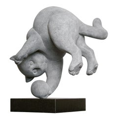 Tommy Cat- 21st Century Contemporary Bronze Sculpture by Frans van Straaten