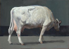 Cow- 21st Century Contemporary Painting of a Dutch Cow by Pieter Pander