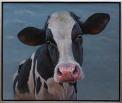 Curious Calf- 21st Century Contemporary Animal Portrait by Paul Jansen