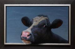 Portrait of a Cow -21st Century Contemporary Dutch Portrait Painting of a Cow