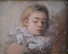 Ruff II, 21st Century Contemporary Painting, Acrylic Paint on Epoxy Resin