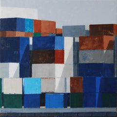 Containers II- 21st Century Contemporary Plein Air Landscape Painting