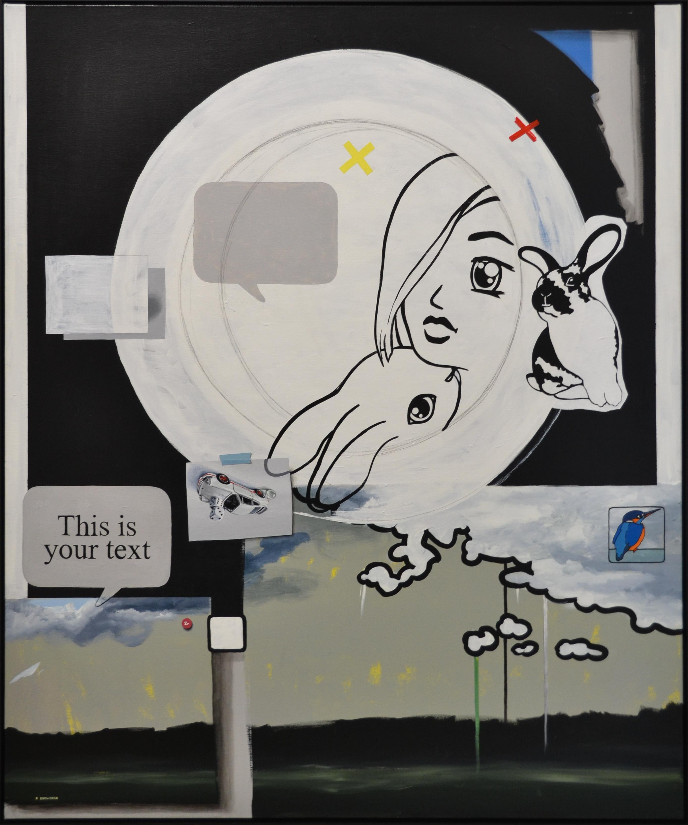 This is your text- 21 st Century Contemporary Modern Realistic & Comic Painting