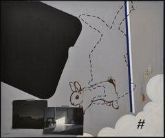 Reality, Relativity and Rabbits, Social Media-21st Century Contemporary Painting