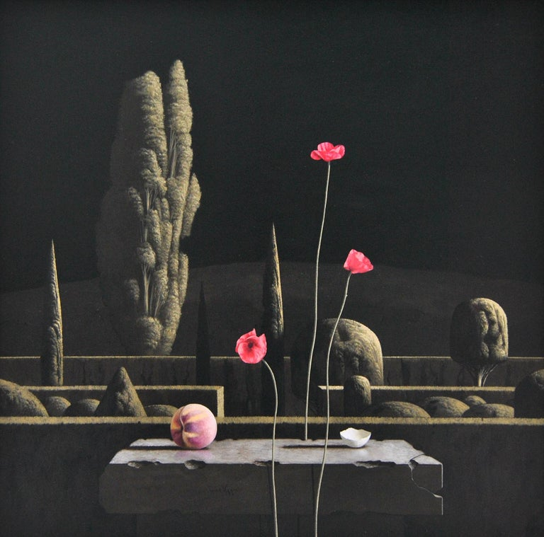 Victor Muller Landscape Painting - Nocturne- 21st Century Contemporary Still-life in a  Landscape painting