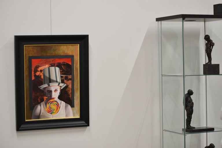 Stuck -  21st Century contemporary narrative portrait painting For Sale 2