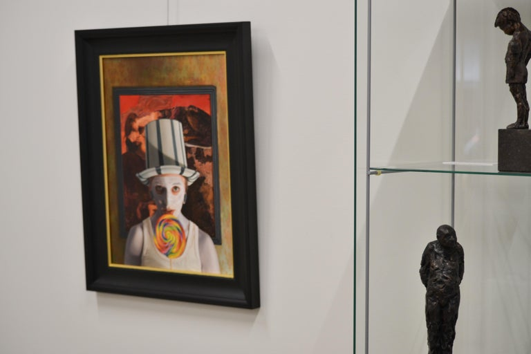 Stuck -  21st Century contemporary narrative portrait painting For Sale 3