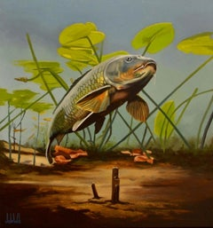 Cypri C2- 21st Century Contemporary Realistic Painting of a Fish