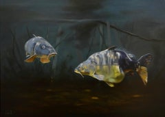 Cypri D1- 21st Century Contemporary Realistic Painting of two Fishes