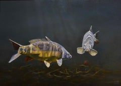 Cypri D2- 21st Century Contemporary Realistic Painting of two Fishes
