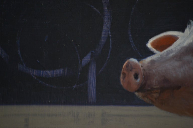 Piggy- 21 st Century Contemporary Painting of a Pig For Sale 2