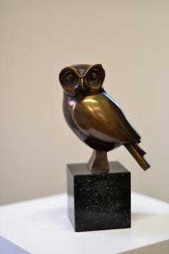 Barn Owl - Frans van Straaten, 21st Century Contemporary Bronze Animal Sculpture