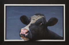 Portrait - Paul Jansen, 21st Century Contemporary Oil Painting, Animal Cow Calf
